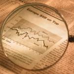 newspaper stock market steady graph