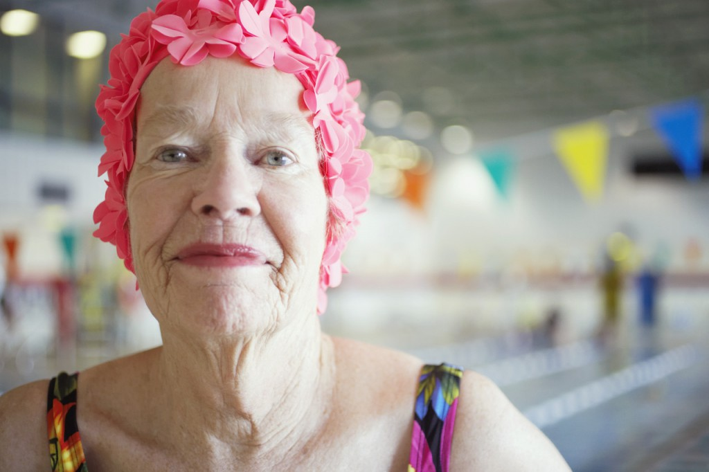 Senior Women in Swim Cap