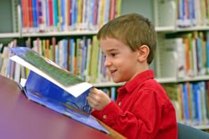 Westerville City School District Boy reads book