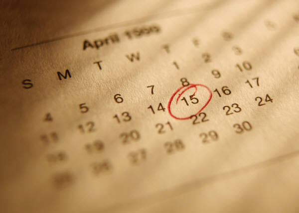 April 15 Tax Season deadline