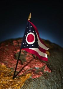 Columbus Ohio flag in map