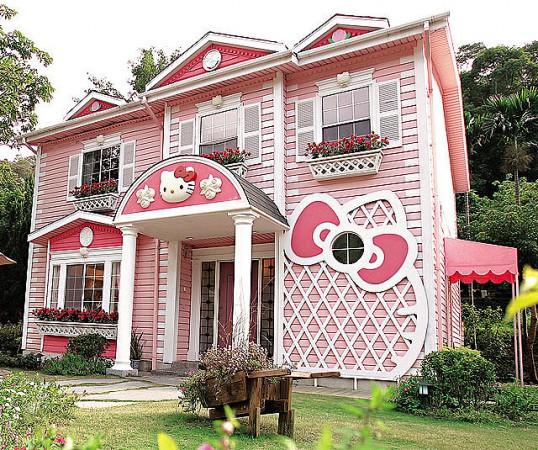 Hello Kitty Exterior Paint Job