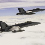 Two F/A-18C Hornets Flying