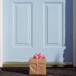Gift by front door