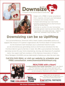 Downsize with a heart ad