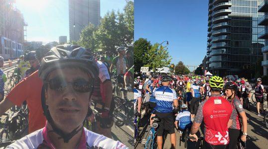 Patrick at Pelotonia 17 - riding for the James Cancer Center