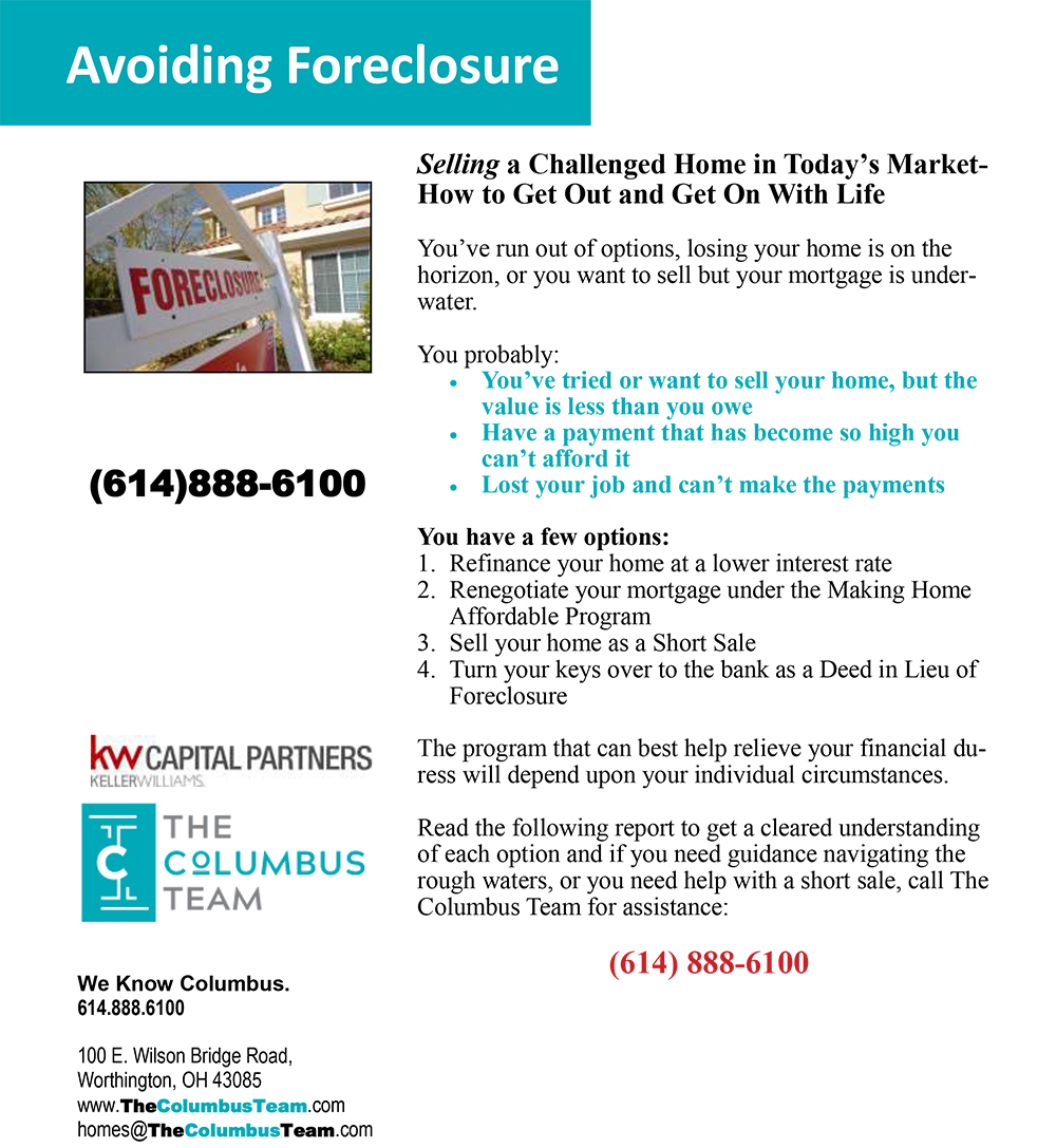 Avoiding Foreclosure Report