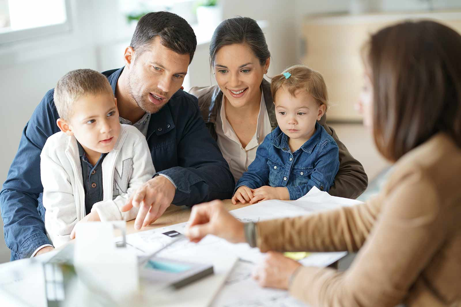 Family getting home financing